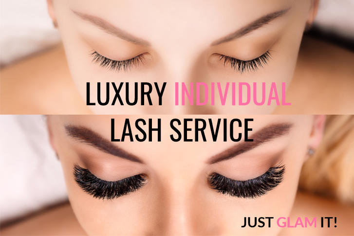 individual eyelash extensions in winnipeg wedding bridal party beauty services
